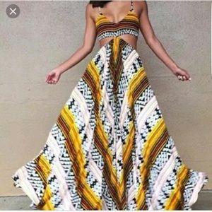 Innocence Indah cut out Maxi Dress